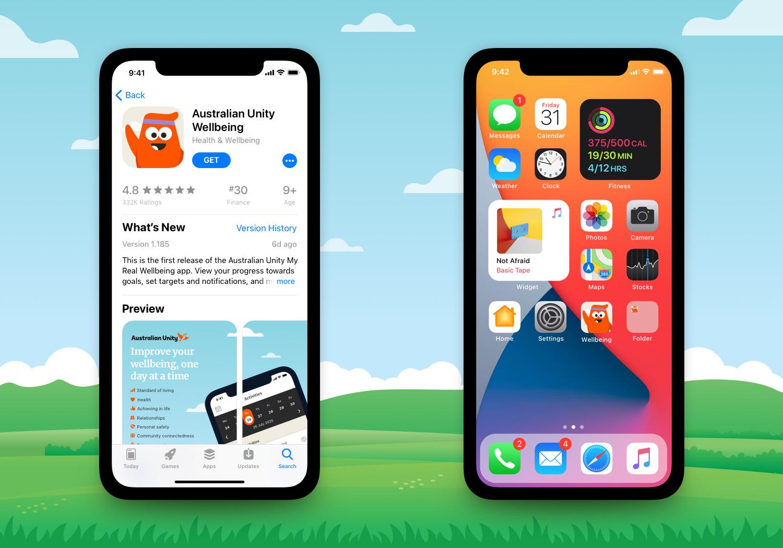 Australian Unity Wellbeing Mobile App